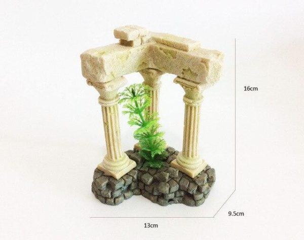 3 colonnes romaines aquarium aquariophile