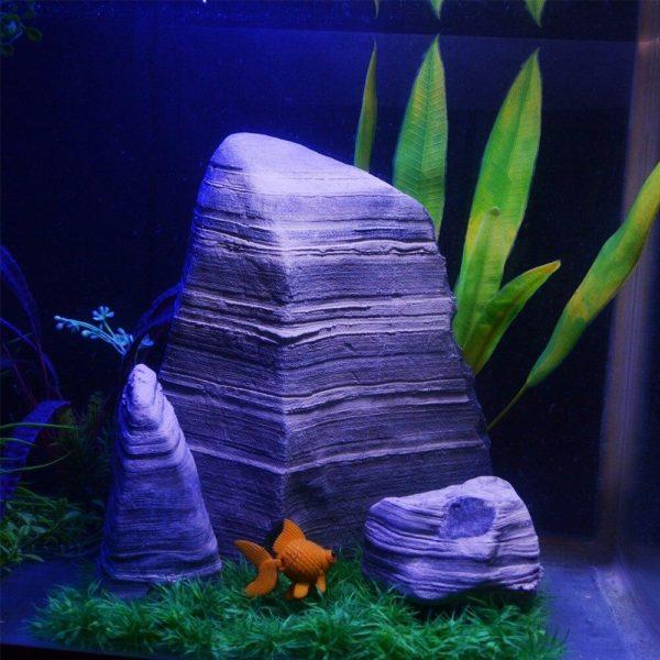 3 rochers très réalistes aquarium decoration