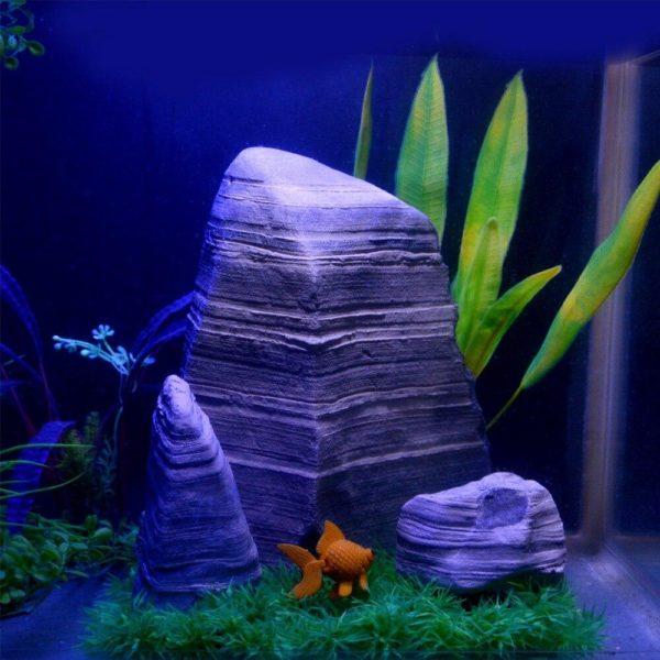 3 rochers très réalistes aquarium pour poissons