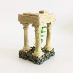 3 colonnes romaines aquarium pour poissons