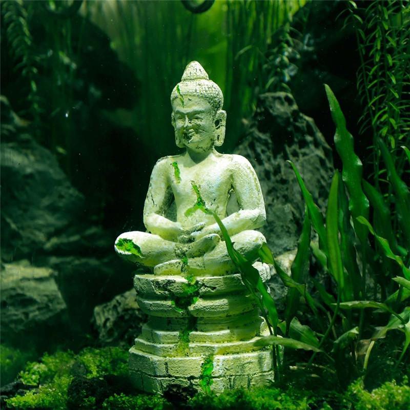 Statue Bouddha Imitation Pierre Décorations Aquarium