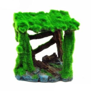Abris avec mousse aquarium decoration