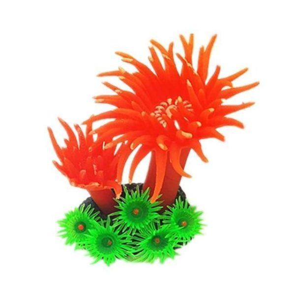 Anémone artificielle belles couleurs pour aquarium