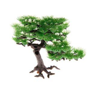 Arbre en plastique imitation bonsaï aquarium