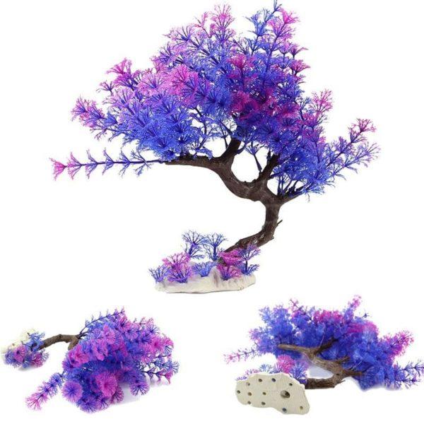 Arbre violet aquarium decoration