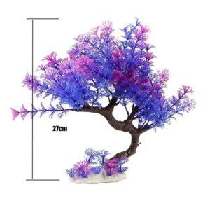 Arbre violet aquarium réaliste
