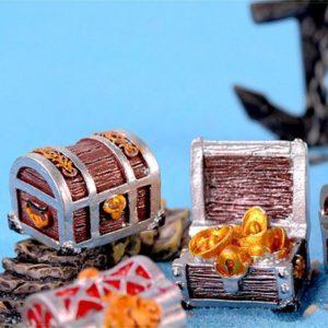 Assortiment de 4 coffres au trésor décorations
