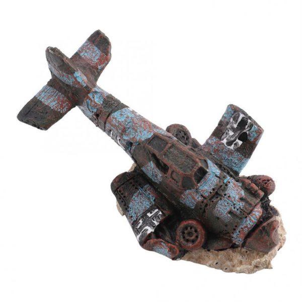 Avion de guerre écrasé épave