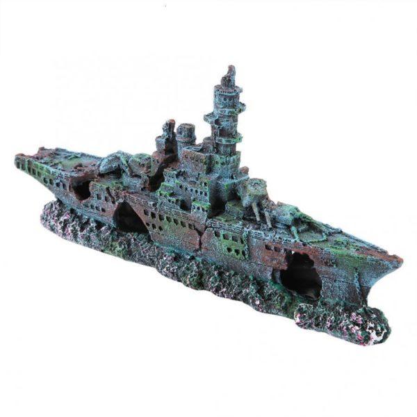 Bateau de guerre aquarium