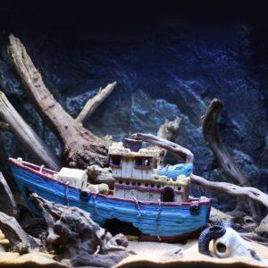 Bateau de marin pêcheur decorations aquarium