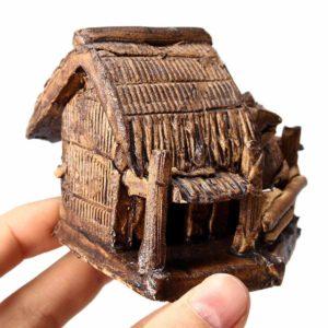 Cabane en céramique pour poissons déco