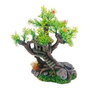 Cabane perchée dans un arbre décoration