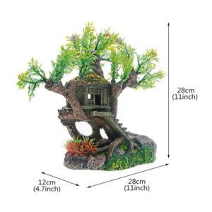 Cabane perchée dans un arbre pour aquarium