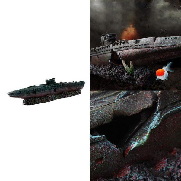 Carcasse de bateau de guerre décoration
