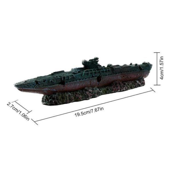 Carcasse de bateau de guerre décorations