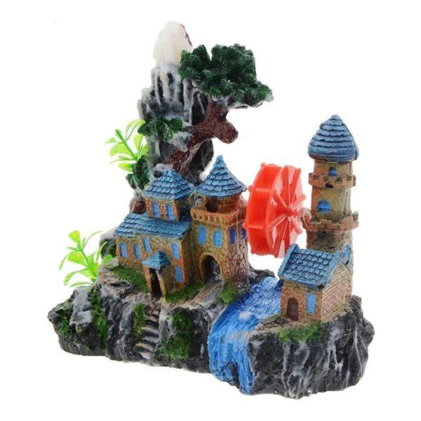 Château au bord de l'eau aquarium