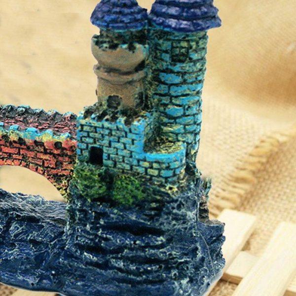 Château bleu avec pont décoration