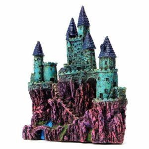 Château géant surélevé pour poissons aquarium