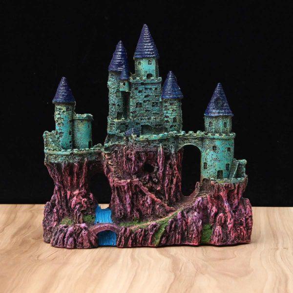 Château géant surélevé pour poissons pour aquarium