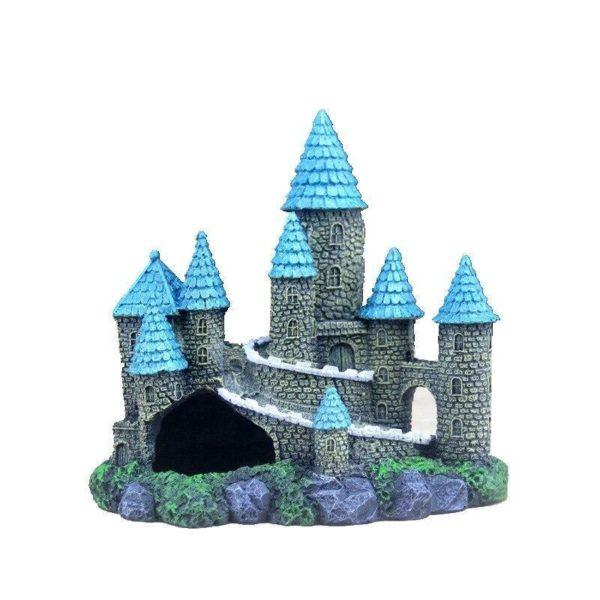 Château médiéval pour poissons aquarium