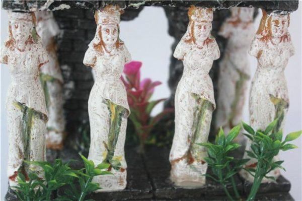 Colonne romaine en forme de femme décorations aquarium