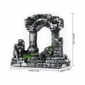 Colonnes romaines en ruines d'aquarium