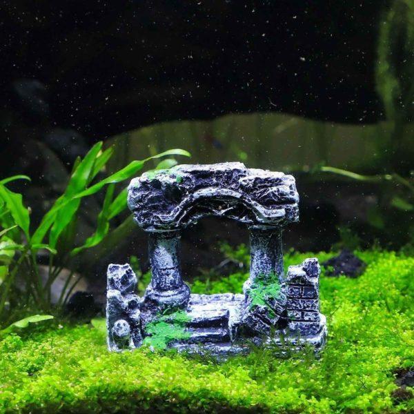 Colonnes romaines en ruines pour aquarium