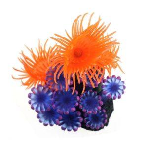Corail artificiel bleu et orange décoration