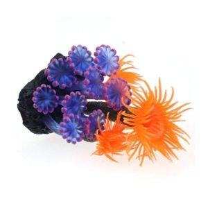 Corail artificiel bleu et orange décorations