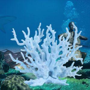 Corail artificiel bleu pâle d'aquarium