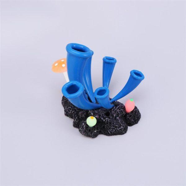 Coraux bleus orignaux aquarium decoration