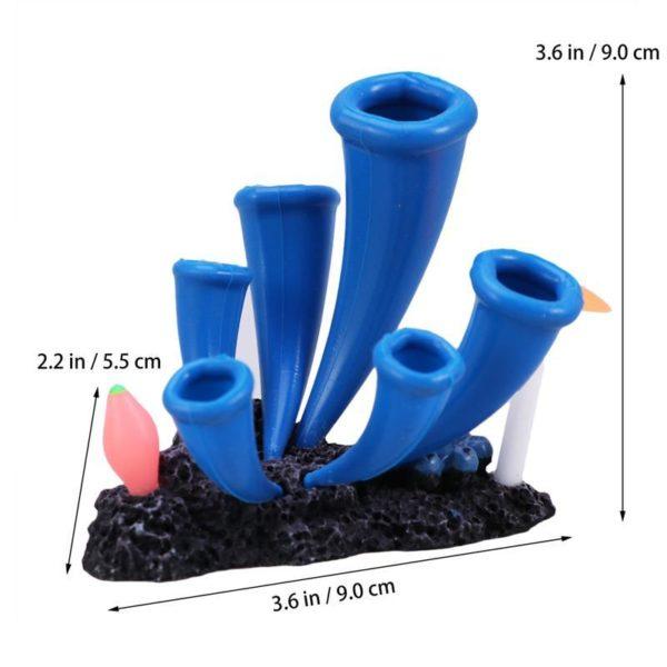 Coraux bleus orignaux aquarium pas cher