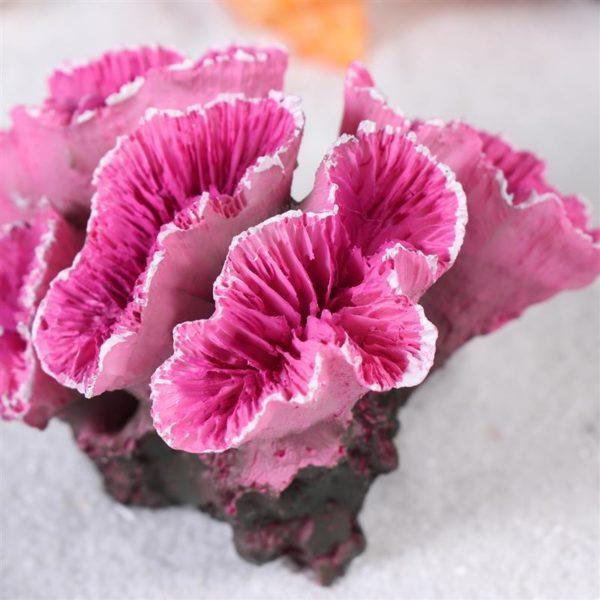 Coraux roses réalistes aquarium pas cher