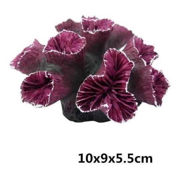 Coraux violets aquarium pour poissons