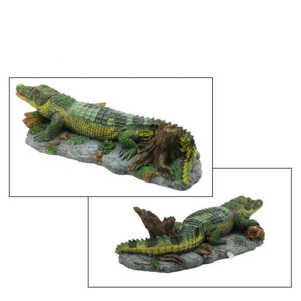 Crocodile d'Amérique du Sud réaliste d'aquarium