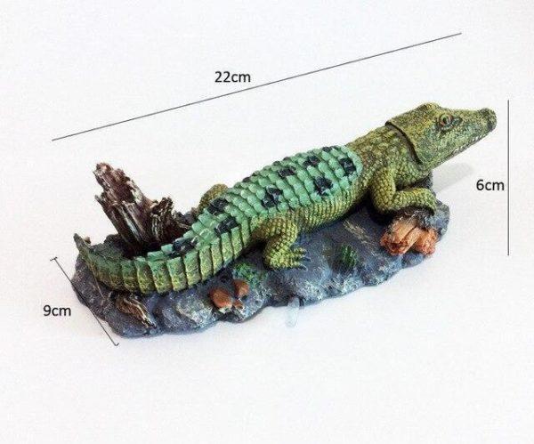 Crocodile décoratif d'aquarium