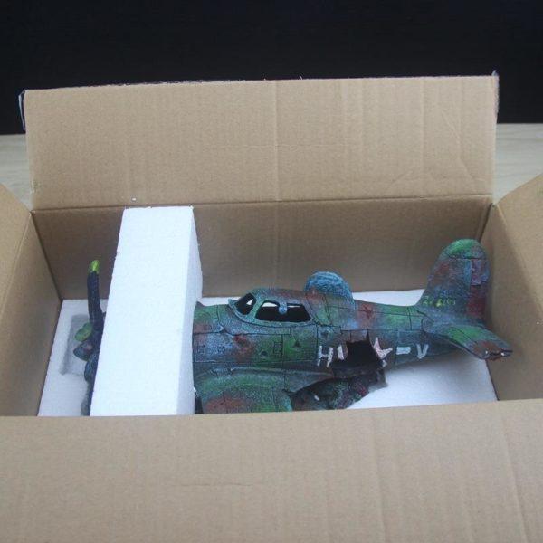 Epave d'avion de combat decorations aquarium