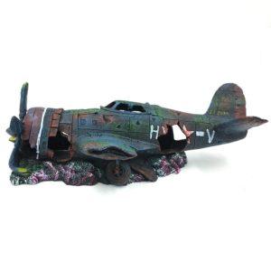 Epave d'avion de combat décoration aquarium