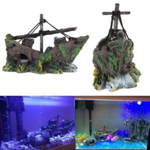 Épave de bateau ancien aquariophiles