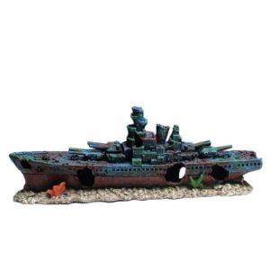 Épave de bateau de guerre aquarium