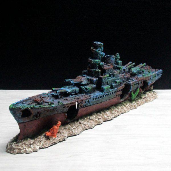 Épave de bateau de guerre décoration