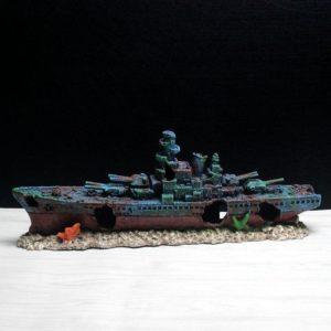 Épave de bateau de guerre pour aquarium