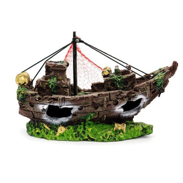 Épave de bateau de pêcheur aquarium