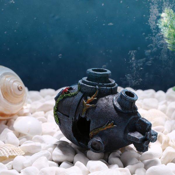 Épave de petit sous-marin pour aquarium
