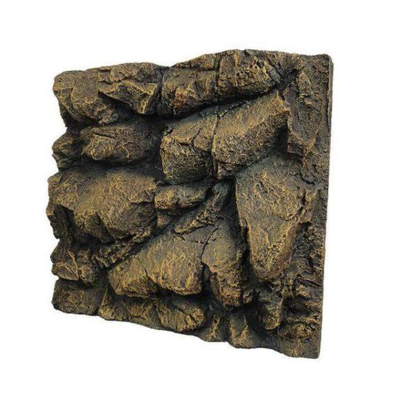 Fond rocher en relief aquarium pas cher