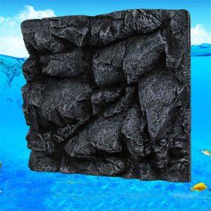 Fond rocher en relief aquarium pour poissons