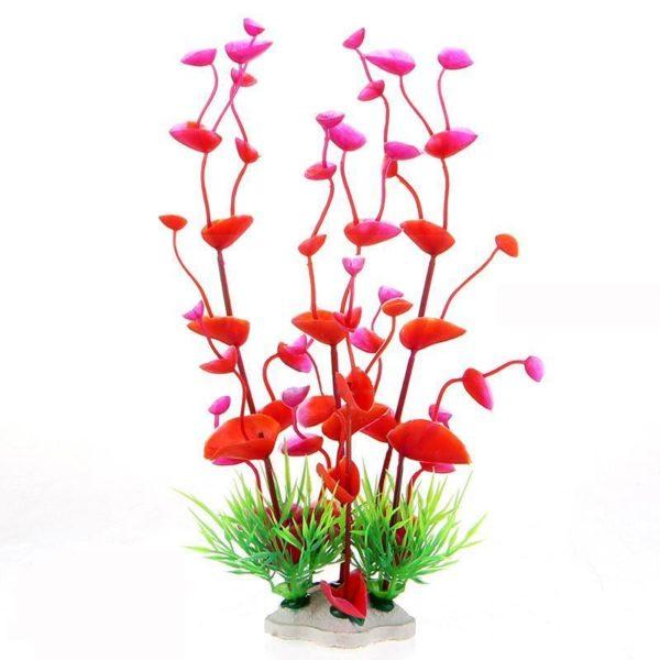 Grande plante artificielle decoration d'aquarium