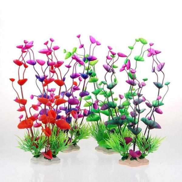 Grande plante artificielle decorations pour aquarium