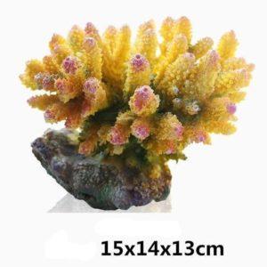 Grands coraux colorés aquarium decoration
