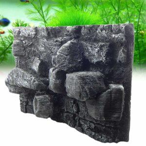 Gros rochers en relief d'aquarium